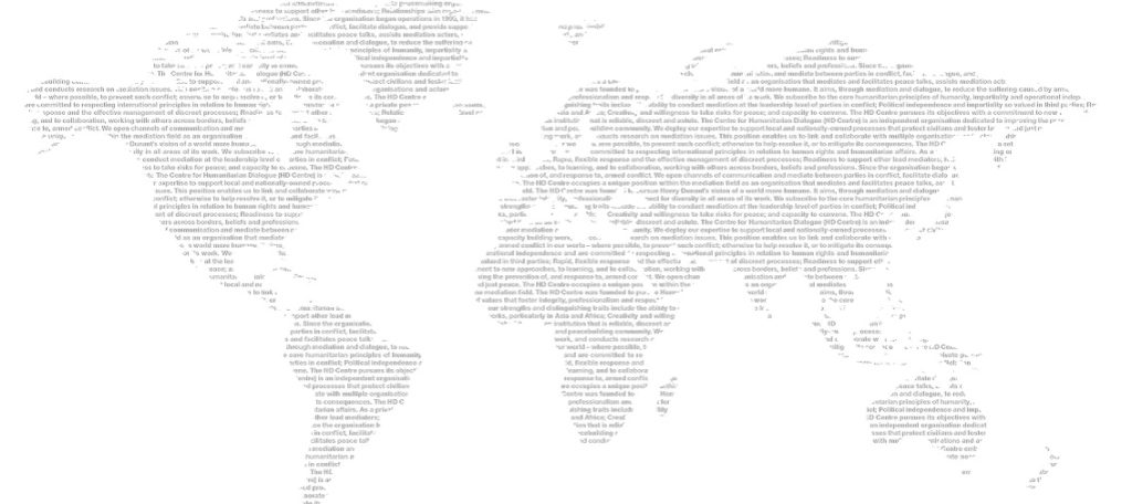 World map in words - © Centre for Humanitarian Dialogue