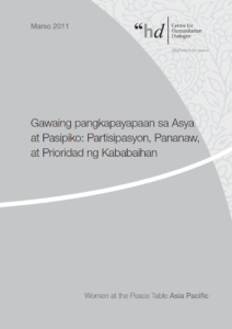 26WomenatthePeaceTableAsiaPacificpublication-_Tagalog_August2012_0 August 2012