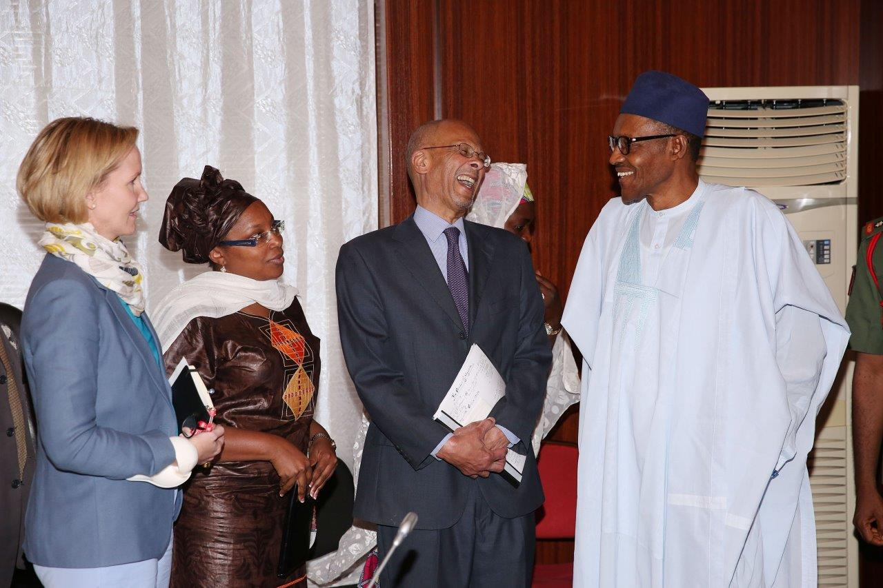 Meeting of an HD delegation, including David Lambo, with President Buhari of Nigeria - January 2016